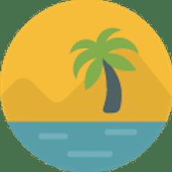 ikona tropikalny kurort na wyspie
