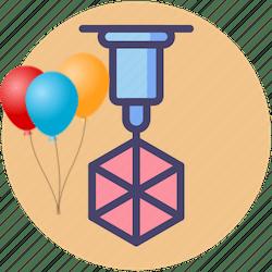 ikona Urodziny z drukiem 3d