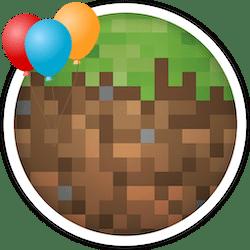 ikona urodziny z minecraft