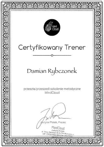 Certyfikat Damian Rybczonek