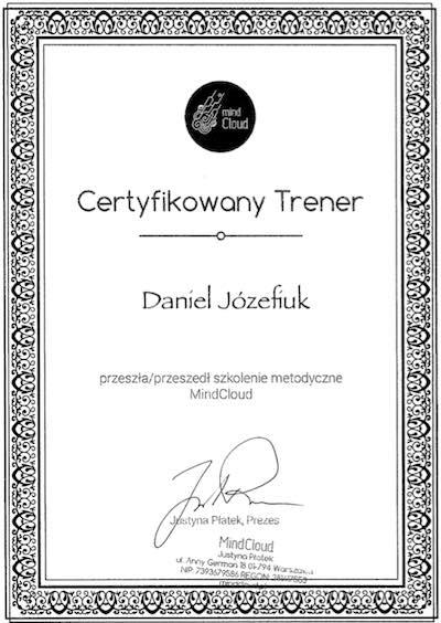 Certyfikat Daniel Jozefiuk